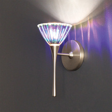 WAC US WS57LED-G518DIC/BN - Eden LED Torch Wall Sconce with Dichroic Glass in Brushed Nickel