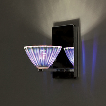 WAC US WS58LED-G518DIC/CH - Eden LED Wall Sconce with Dichroic Glass in Chrome