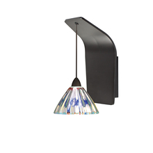 WAC US WS72-G518DIC/RB - Eden Pendant Wall Sconce with Dichroic Glass in Rubbed Bronze