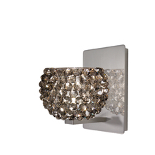WAC US WS58-G542BI/BN - Gia Wall Sconce with Black Ice Crystal in Brushed Nickel
