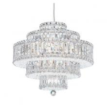 Schonbek 6673A - Plaza 22 Light 110V Pendant in Stainless Steel with Clear Spectra Crystal