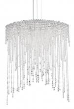 Schonbek CH4813N-401H - Chantant 8 Light 110V Pendant in Stainless Steel with Clear Heritage Crystal