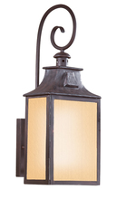 Troy BF9002OBZ - Newton 1Lt Wall Lantern Fluorescent Medium W/Amber Mist Glass