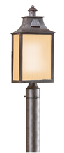 Troy PF9003OBZ - Newton 1Lt Post Lantern Fluorescent Medium W/Amber Mist Glass
