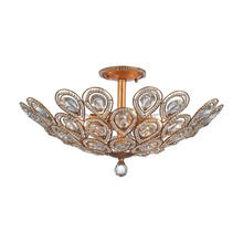 ELK Lighting 11933/8 - Evolve 8-Light Semi Flush in Matte Gold with Clear Crystal