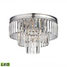 ELK Lighting 15215/3-LED - Palacial 3-Light Semi Flush in Polished Chrome with Clear Crystal - Includes LED Bulbs