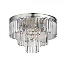 ELK Lighting 15215/3 - Palacial 3-Light Semi Flush in Polished Chrome with Clear Crystal