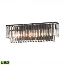 ELK Lighting 15222/3-LED - Palacial 3-Light Vanity Lamp in Oil Rubbed Bronze with Clear Crystal - Includes LED Bulbs
